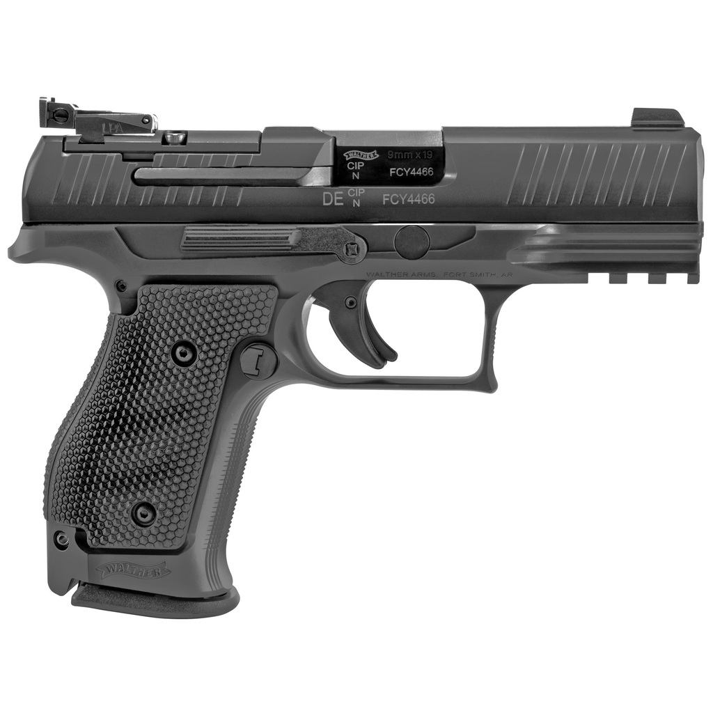 """Walther PPQ Q4 SF OR, 9mm, 4"""", Steel Frame, 15Rd, 3 Magazines, Fixed Front and Adjustable Rear Sight, Optics Ready (Mounting Plate Not Included)"""