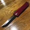 Microtech Troodon, Hellhound Bronze Standard, Red Signature Series Series #89