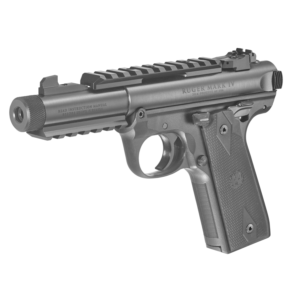 """Ruger Mark IV Tactical 22/45, 22LR, 4.4"""", Blue Steel, 2 10rd mags"""