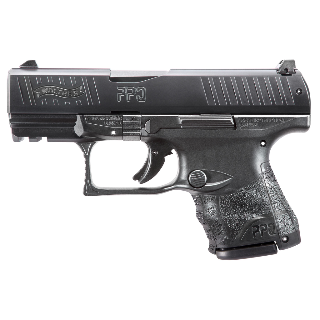 "Walther, PPQ M2 SC, Striker Fired, 9MM, 3.5"" Barrel, Polymer Frame, Black Finish, Fixed Sights, 10Rd, 2 Magazines"