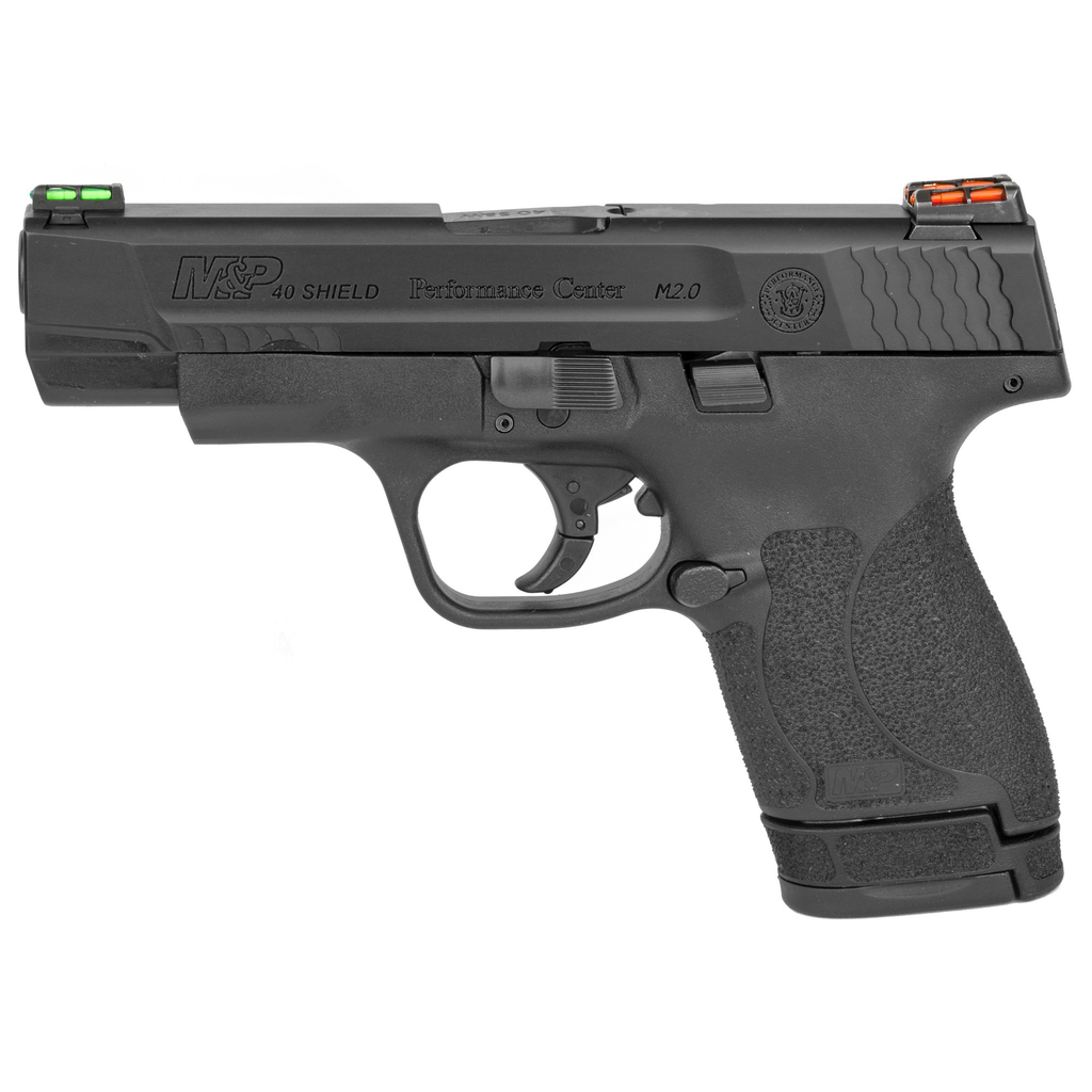 Smith & Wesson, Shield M2.0 Performance Center Ported,, 40 S&W,  6 & 7Rd, HiViz Fiber Optic Sights