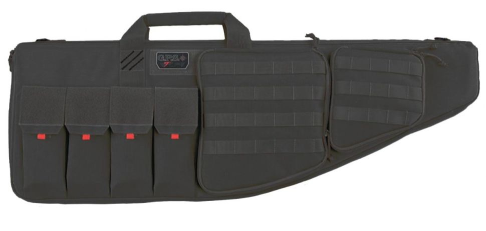 "Pack and Etc (Firearm) GPS Tactical AR case, with Handgun compartment, 35"", Black"