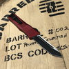 Microtech COMBAT TROODON, T/E BLK P/S RED
