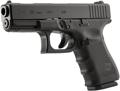 Glock 19C Gen 4 Compensated, 9 mm, 15 rd, 3 mags, USA Made (special run)