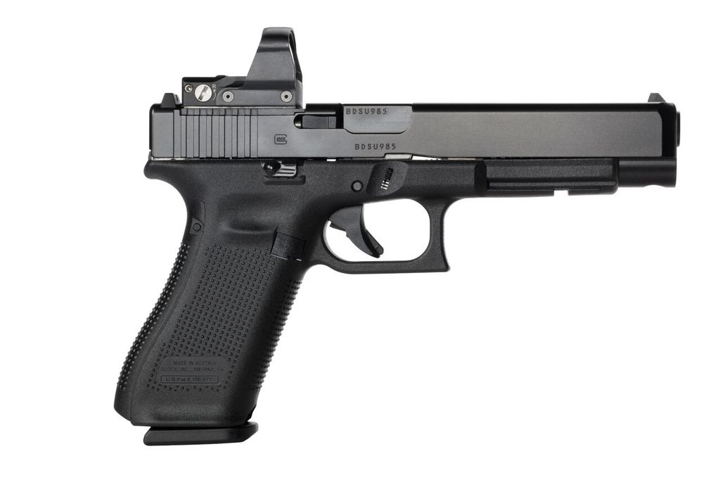Handgun New Glock 34 Gen 5 MOS, 9mm, Practical/Tactical, 17rd, Black, adjustable sights