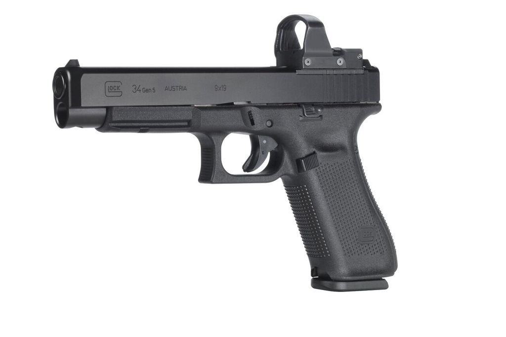Glock 34 Gen 5 MOS, 9mm, Practical/Tactical, 17rd, Black, adjustable sights