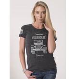 Shirt Short American Workhorse Tee, Dark Grey, Women's Large