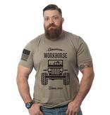 Shirt Short American Workhorse Tee, Military Green, Large
