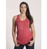 Shirt Short PLEDGE, Racerback Tank, Red, Woman's Large