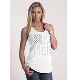 Shirt Short PLEDGE, Racerback Tank, White, Woman's Large