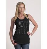 Shirt Short PLEDGE, Racerback Tank, BLACK, Woman's Large