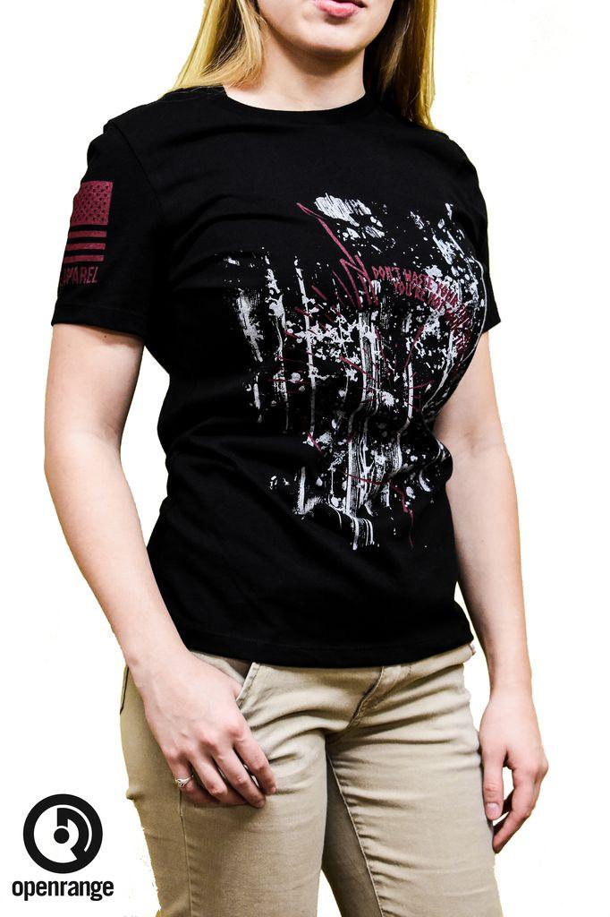 Shirt Short OZ COMPASS, Black, Woman's Medium