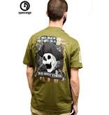 Shirt Short SHOT THEM Tee, Military Green, Medium