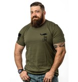 Shirt Short DON'T TREAD Tee, Military Green, Large