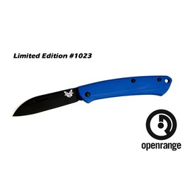 Folding Benchmade 319DLC-1801 Proper, Sheep's Foot Blade w/Blue Handle