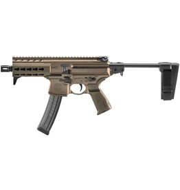 Rotational Sig Sauer MPX K FDE Pistol, 9mm, 30rds, with telescoping brace