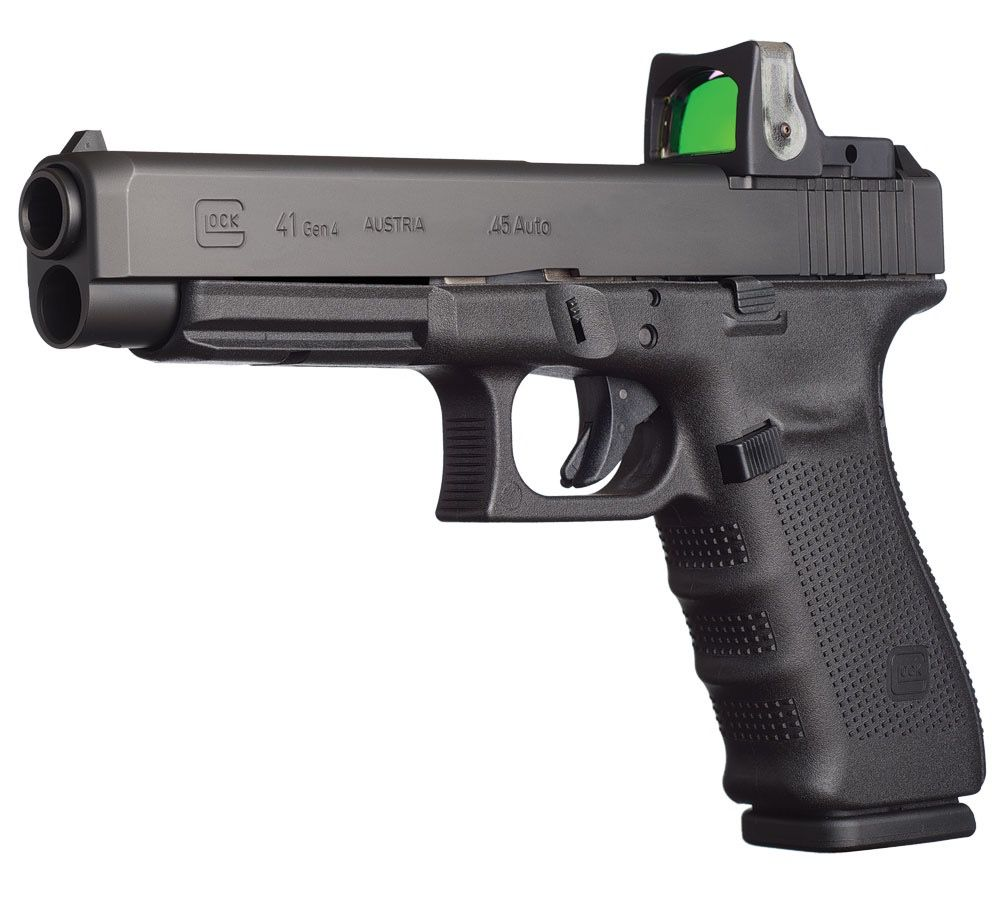 "Rotational Glock 41 Gen 4 MOS, 45acp, adj sights, 13 rds, 5.3"", 3 mags"
