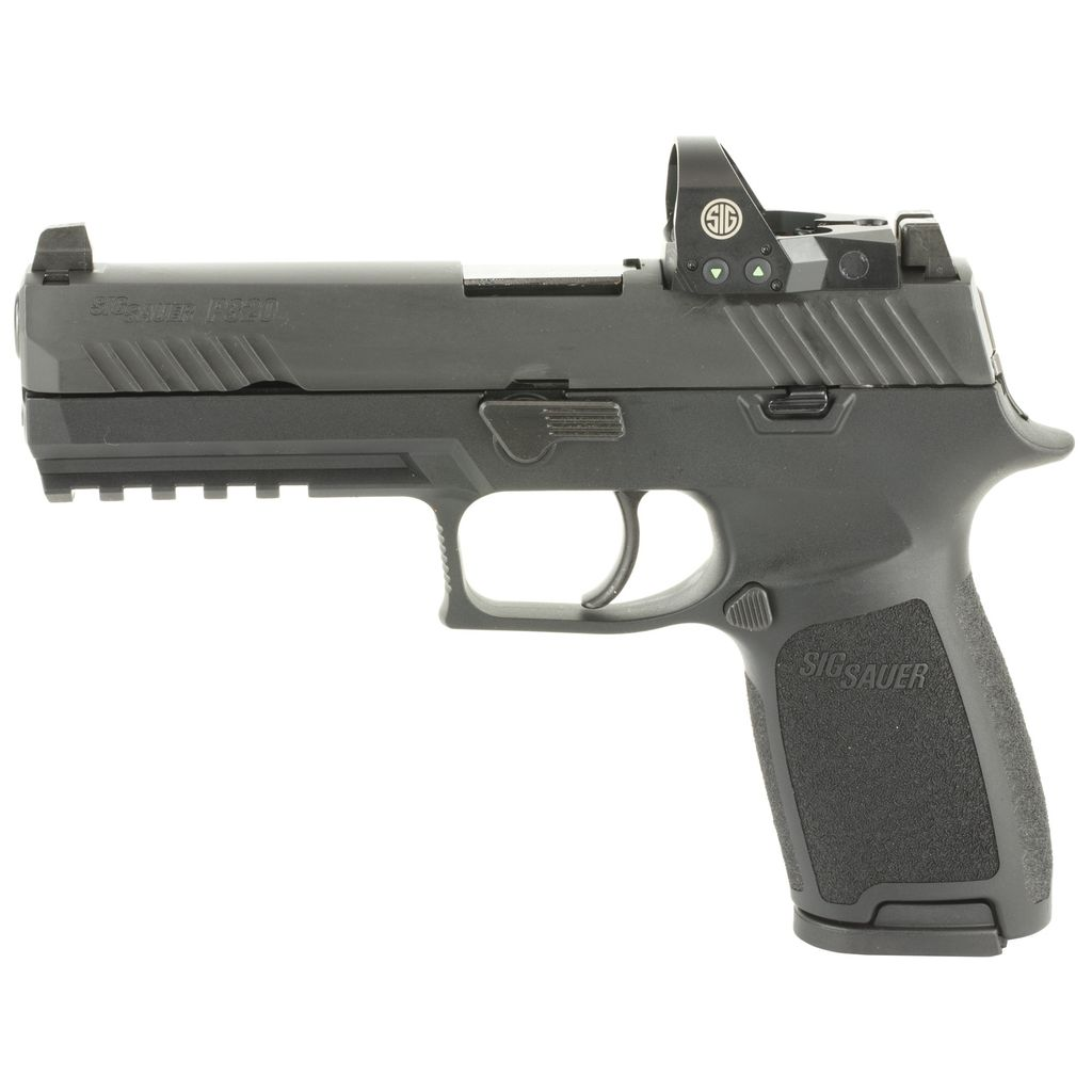 "Sig Sauer P320 w/ Romeo I, 9mm, 4.7"", Siglite Night Sights, 17rds"