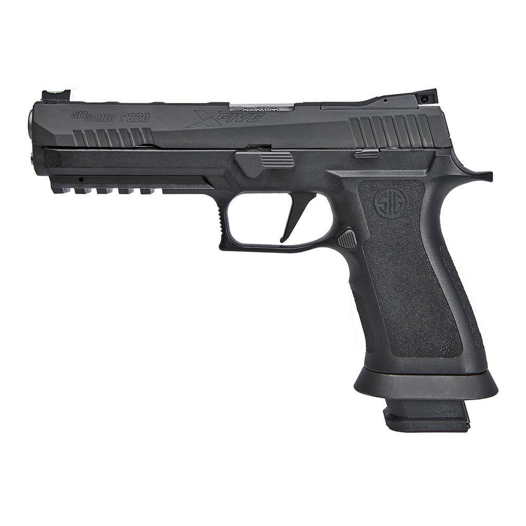 "Sig Sauer P320 X-Five, 9mm, 5"", Fiber Optic Sights, Lightening cuts, X Grip, 21rd."