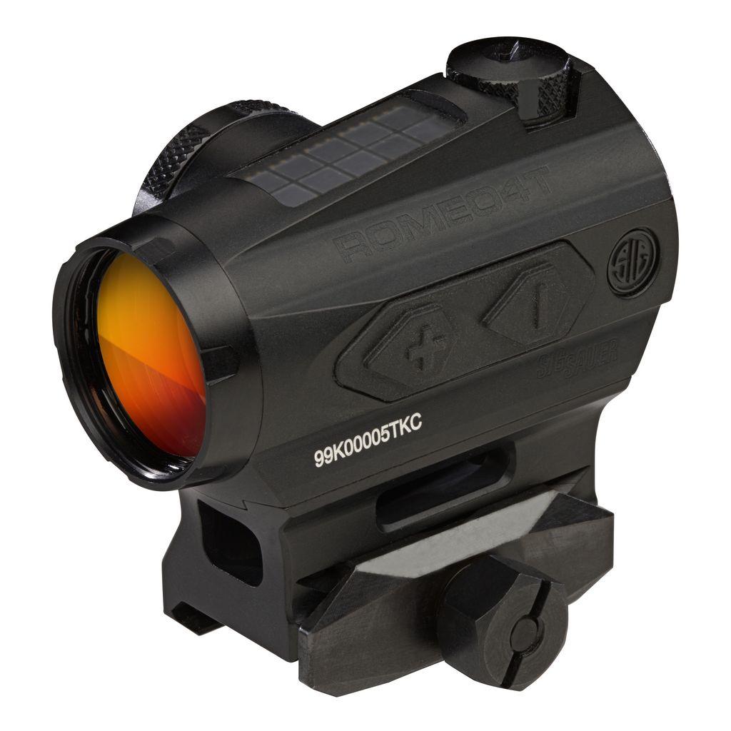 Sig Sauer Romeo 4T Tactical/Solar Red Dot Sight, 2 MOA Circle Plex