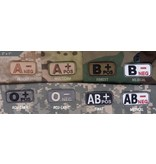 Patches Mil-Spec Monkey, Blood Type, ACU Dark, B- Neg