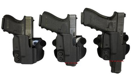 Plastic Comp Tac Paddle Holster Glock 19 23 Black Straight