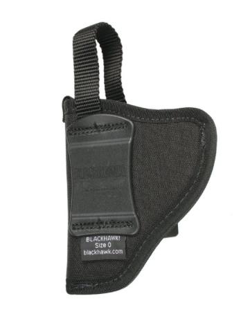 BLACKHAWK Nylon Inside the Pants Holster w/Retention Strap,  Size 6, RH, Black