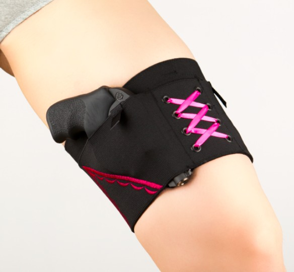 Can Can Concealment Classic Garter - Large - Hot Pink (CO)