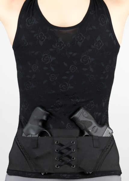 Can Can Concealment Classic Corset - Large - Black (CO)