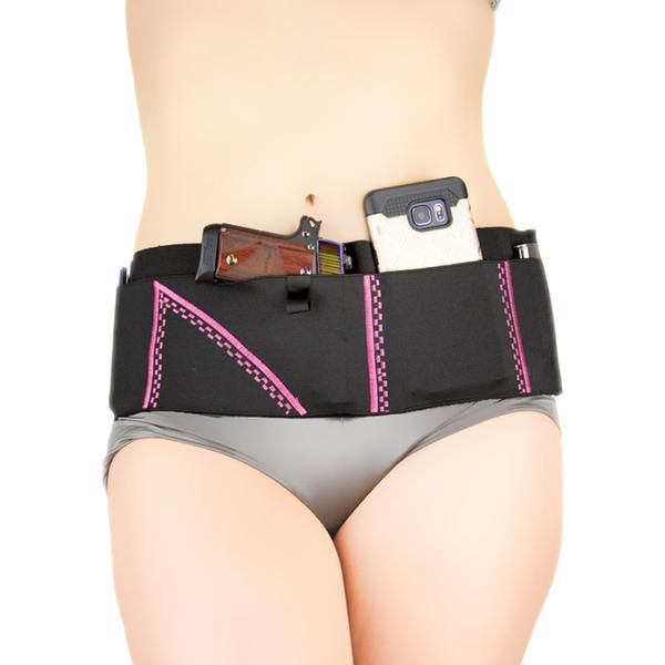 Can Can Concealment Sport Belt Classic Holster - Medium - Neon Pink