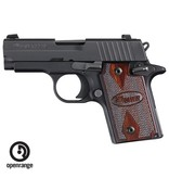 Rotational Sig Sauer P938 Black w/Rosewood Grips, 9mm, 6 rd