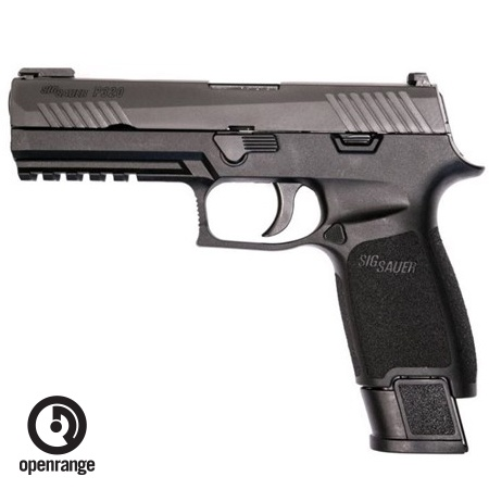 "Sig Sauer P320 Tac Ops, 9mm,  4.7"" Barrel, Polymer Grip, TFO Front/Siglite Rear, 4 x 21rd Magazines (Discontinued)"