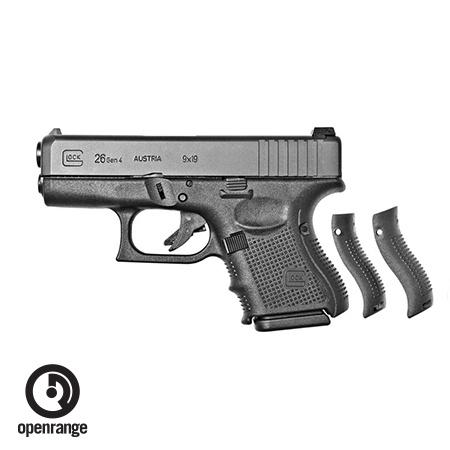 Handgun New Glock 26 Gen 4, 9 mm, 10 rd, 3 mags