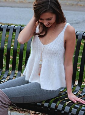 COMFORT AND JOY SLEEVELESS SWEATER