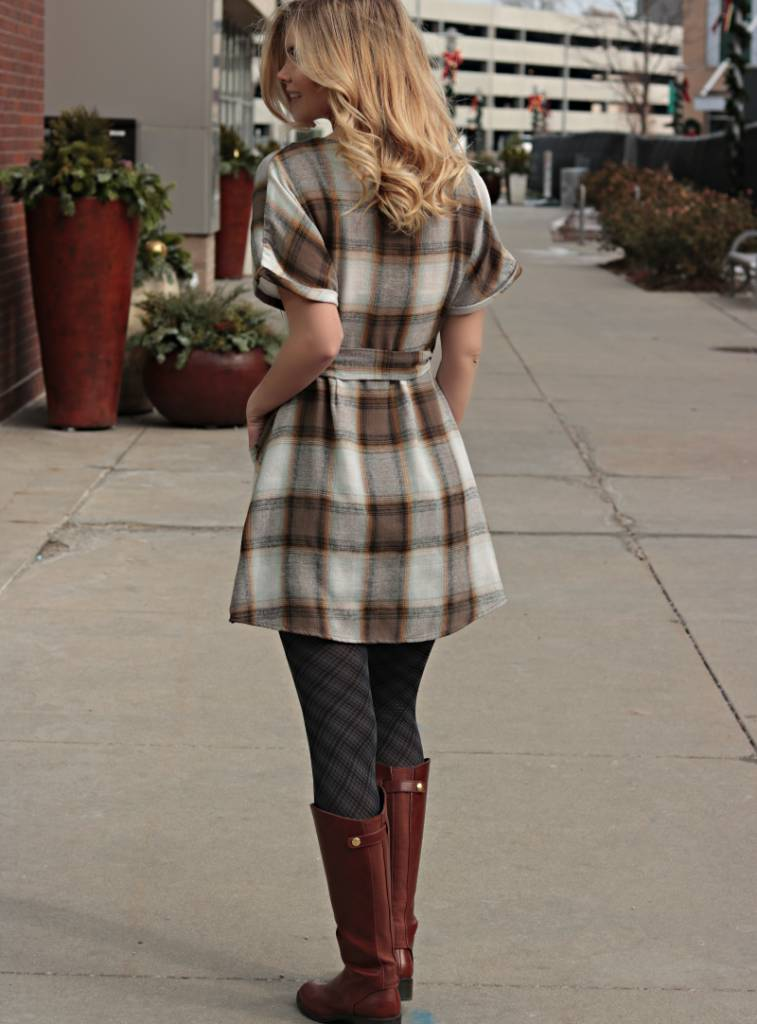 PLAID YOU STOPPED BY DRESS