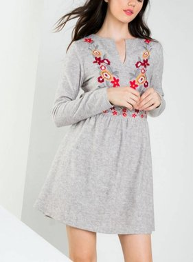 CUTE AS A BUTTON SWEATER DRESS