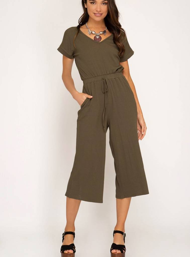 PLAYING IT COOL MIDI JUMPSUIT