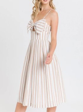ALL ABOUT THE BOW MIDI DRESS