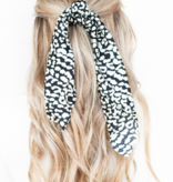LEOPARD TWO TONE SCRUNCHIE SCARF