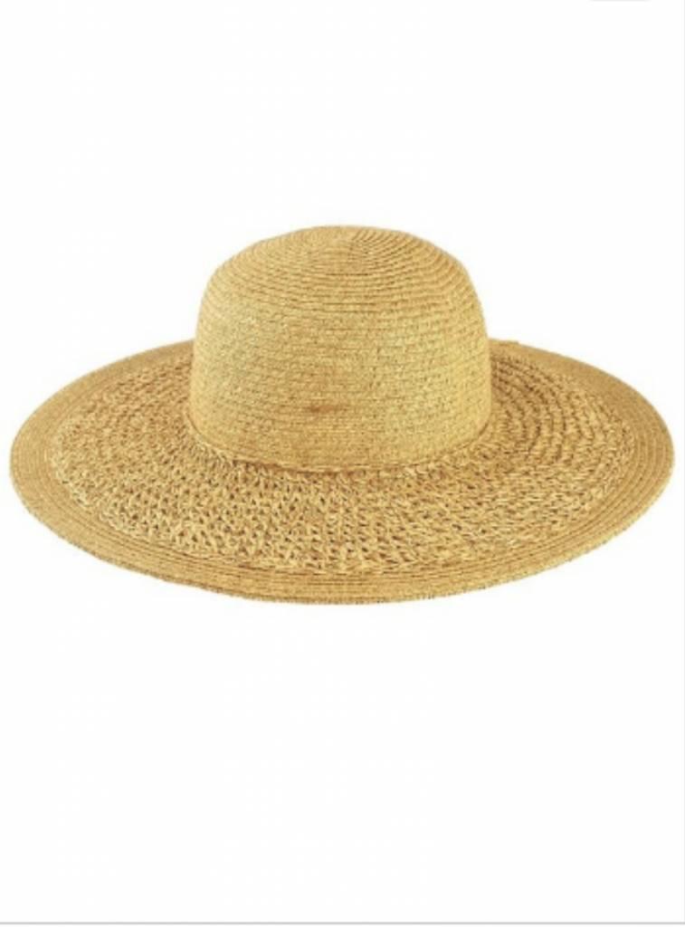 AIRY HAND CROCHET BRIM SUN HAT