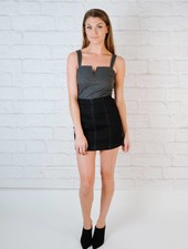 Skirt Aline Black Denim Skirt