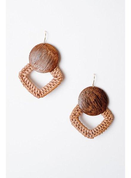 Trend Intertwined Wooden Earrings