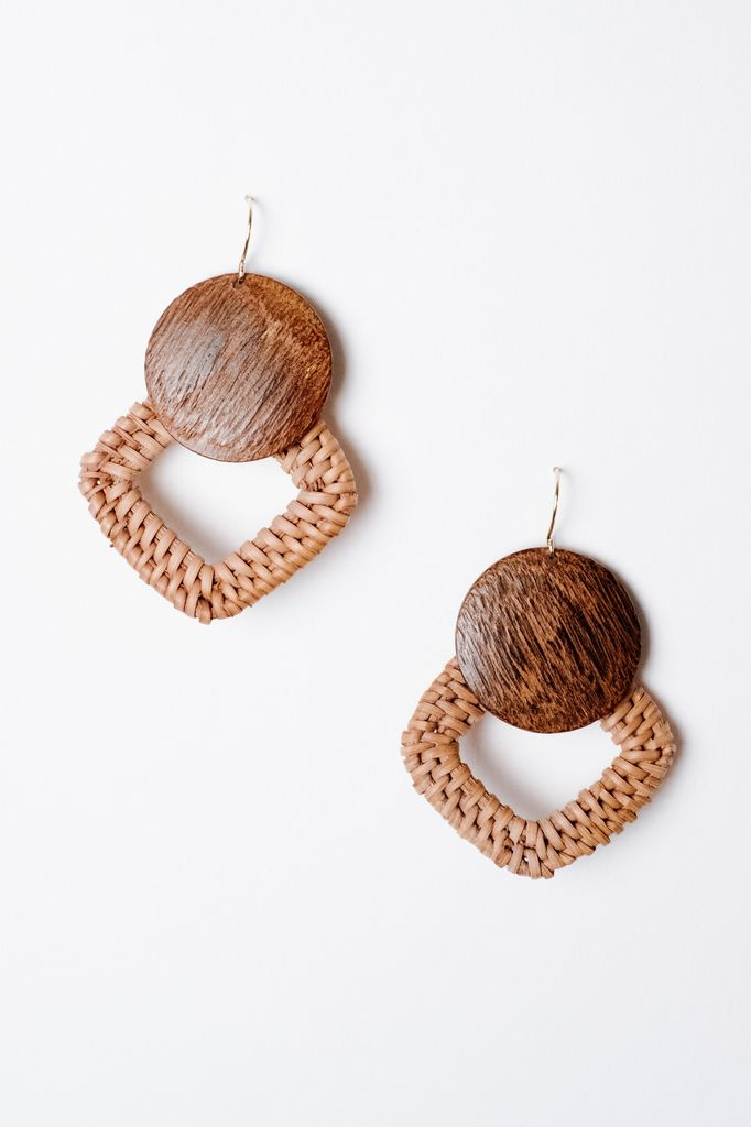 cdc64b401ab2fd Trend Intertwined Wooden Earrings - Bobbles and Lace