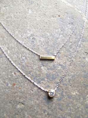 Accessories Sterling rhinestone double layer necklace