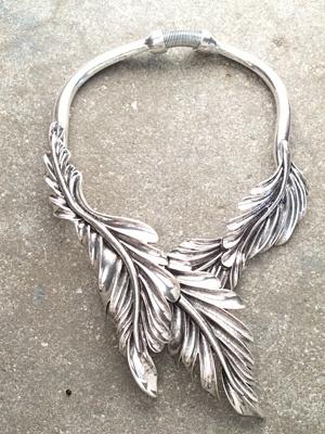 Trend Silver leaf choker *BACK IN STOCK