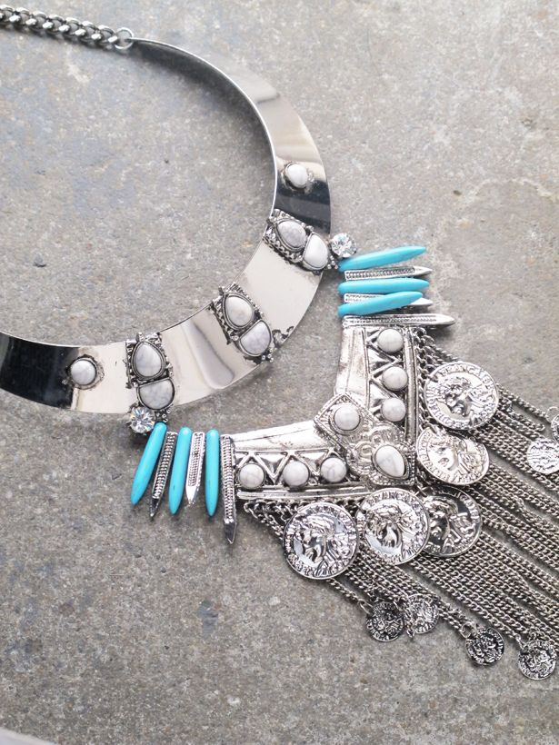 Silver Silver/turquoise coin statement