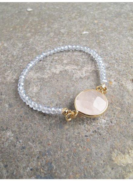 Stone Blush stone beaded bracelet