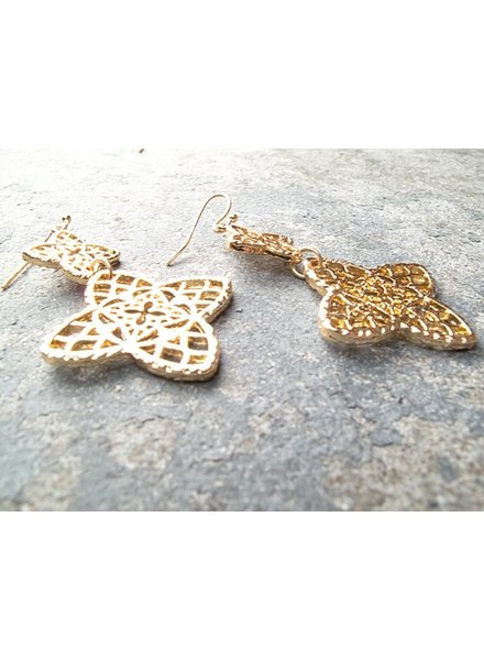 Gold Gold clover dangle