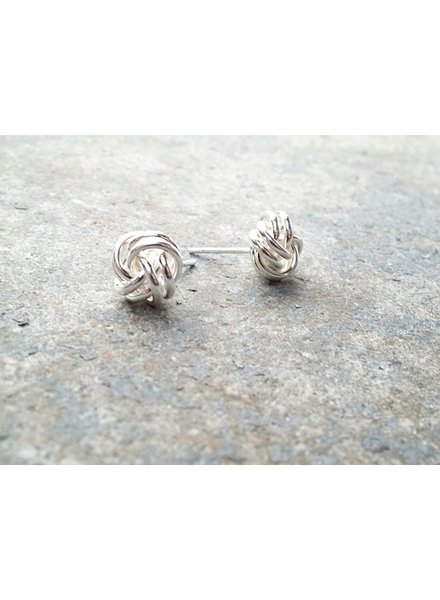 Stud Sterling knotted studs
