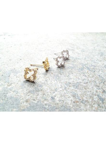Designer Mini clover studs